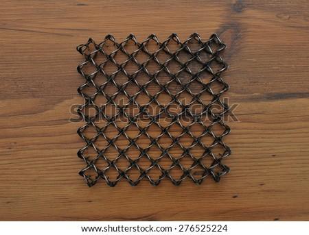 Metal coaster - stock photo
