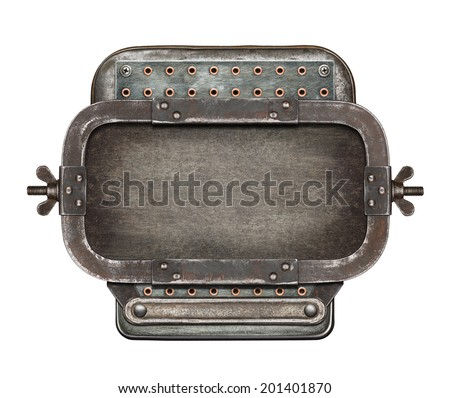Metal collage background - stock photo