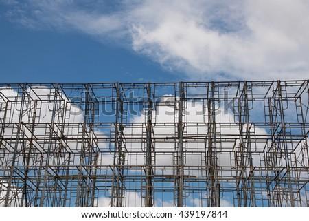 metal construction  - stock photo