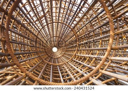 Metal construction bars - stock photo