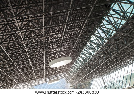 Metal construction ceiling