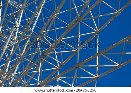 metal construction.shot against the sky