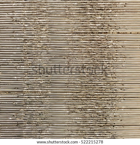 Metal corrugated sheet, texture, background.