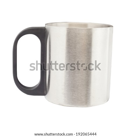 metal cup on isolate - stock photo