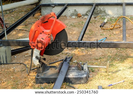 Metal cutting equipment to be used for the connection. - stock photo