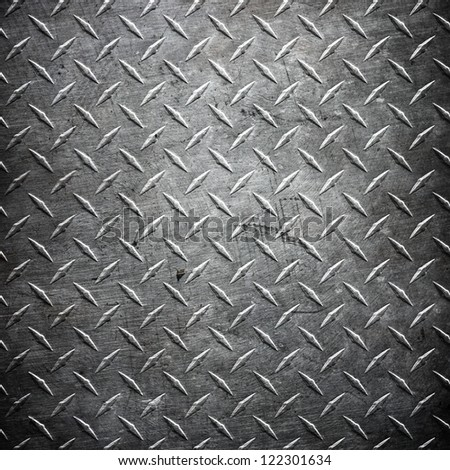 metal  diamond plate  ; abstract industrial background - stock photo