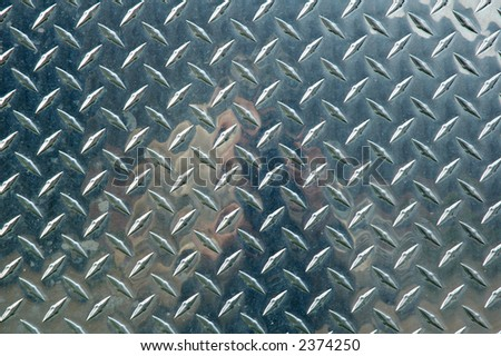 metal diamond plate as a back ground