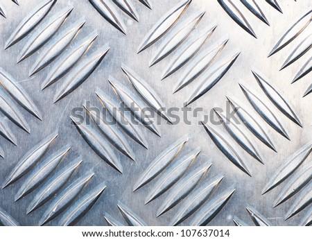 Metal Diamond Plate Background - stock photo