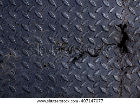 Metal Diamond Plate Texture Background.