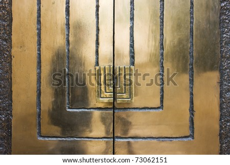 Metal door - stock photo