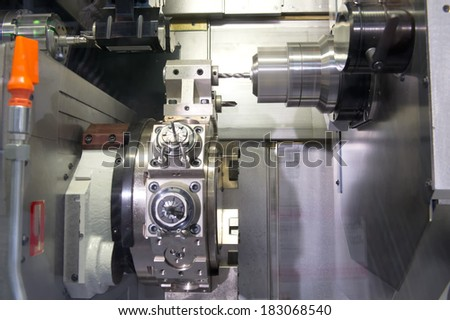 Metal drilling - stock photo