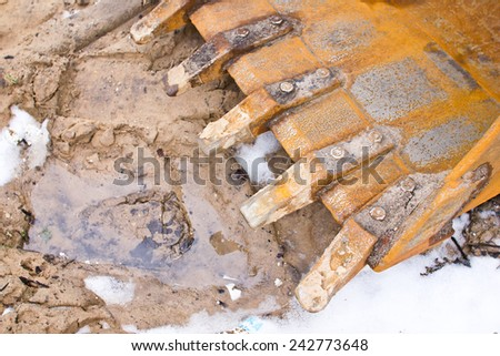 Metal equipment for digging ground. - stock photo