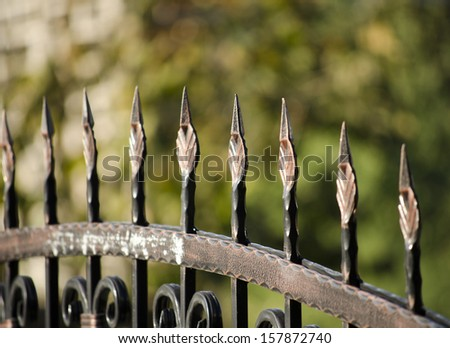 metal fence close up - stock photo