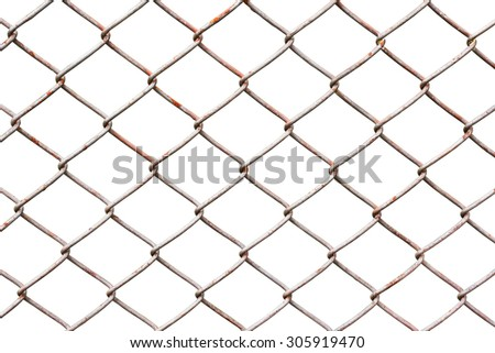 metal fence isolated on white background