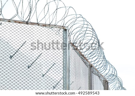Prison Fence Drawing