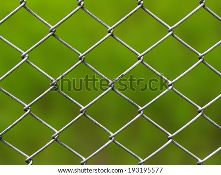 metal fences metal fences with the details of the background is green spacewith