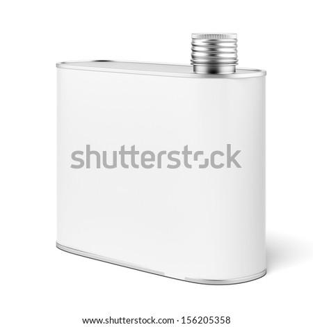 Metal flask - stock photo