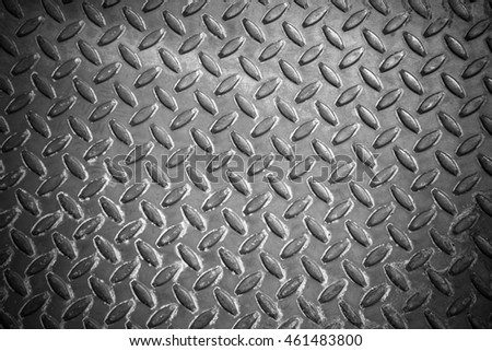 Metal floor sheet non-slip surface.