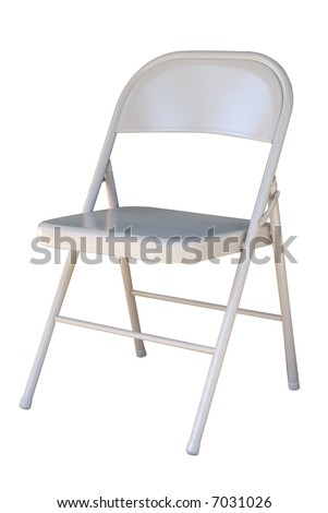 White Metal Folding Chairs folding chair stock images, royalty-free images & vectors