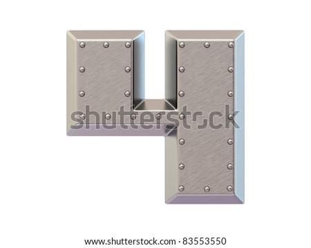 Metal font - stock photo