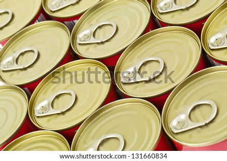 metal food containers in the photo - stock photo