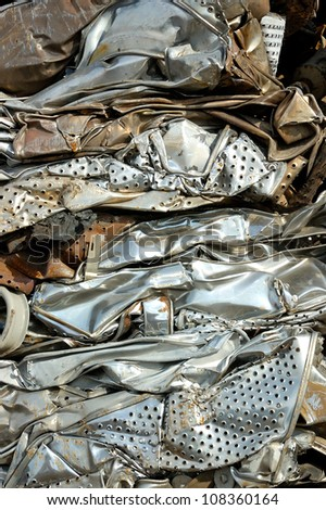 Metal for recycling - stock photo