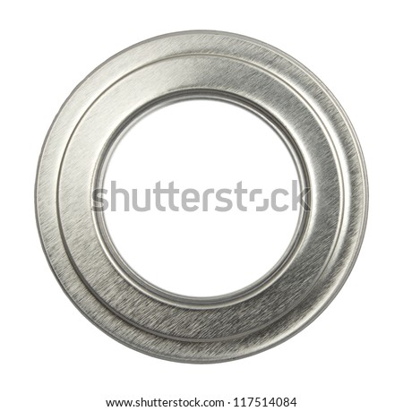 metal frame isolated on white background - stock photo