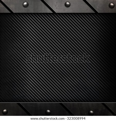 metal frame with stripes background  - stock photo