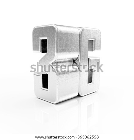 Metal 3G Symbol of Standard Wireless Communication isolated on white reflective background - stock photo