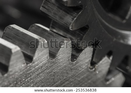 Metal Gears - stock photo