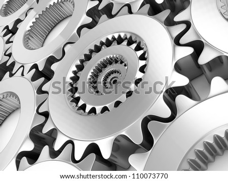 Metal Gears Background - stock photo