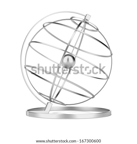 Metal globe - stock photo