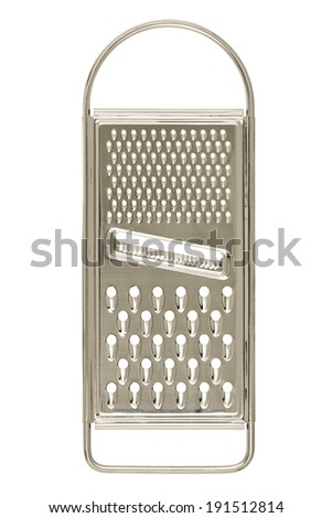 metal grater isolated on white - stock photo