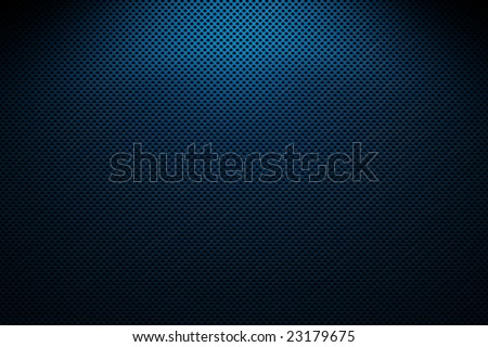 metal grating, blue and black - stock photo