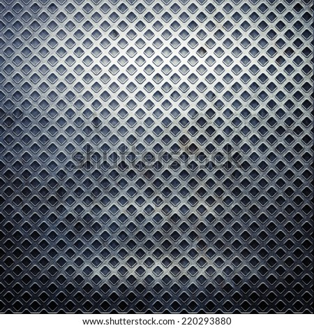 metal grid - stock photo