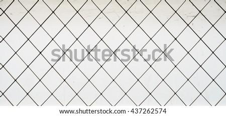 Metal grid window,Vintage. - stock photo