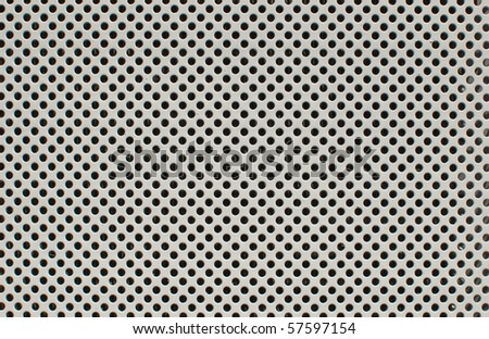 Metal hole, background - stock photo