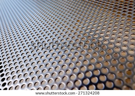 Metal hole mesh - stock photo