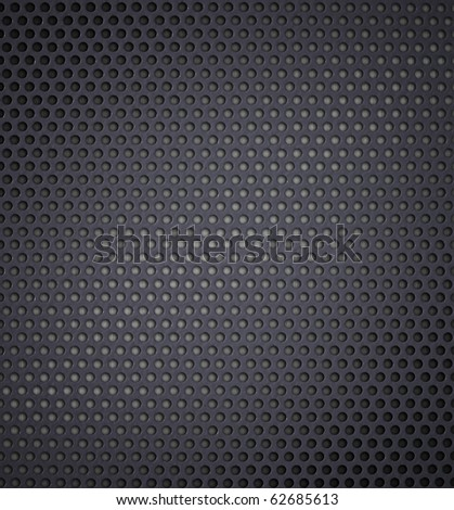 metal holed or perforated grid background - stock photo