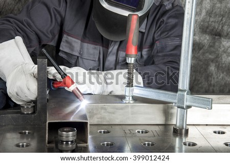 Metal Inert Gas / Metal Active Gas - MIG, MAG welding - stock photo