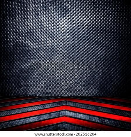 metal interior background  - stock photo