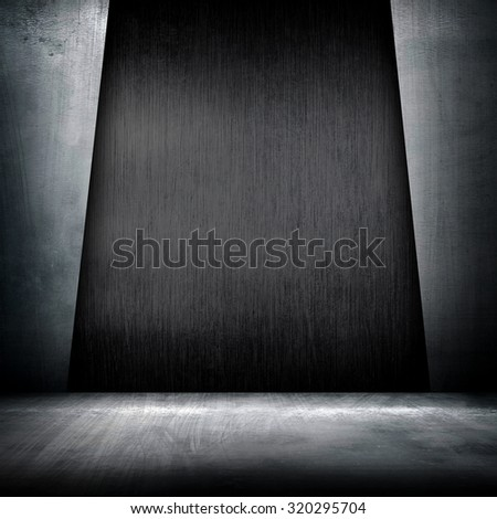 metal interior design background - stock photo