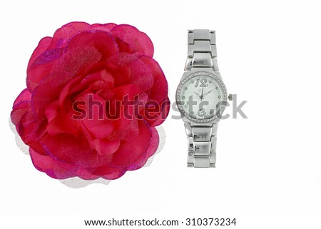 Metal ladies watch - stock photo