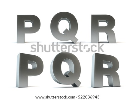 White Metal Letters Custom Metal Letters Isolated On White Background Stock Illustration Design Decoration