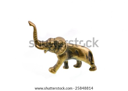 metal mascot  lucky elephant on white background