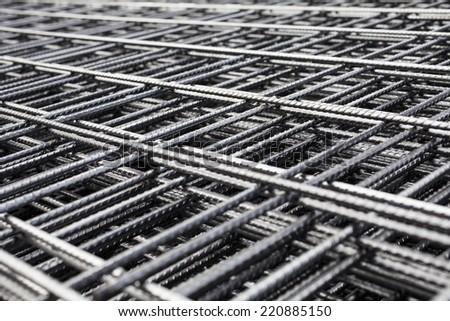 Metal mesh - stock photo