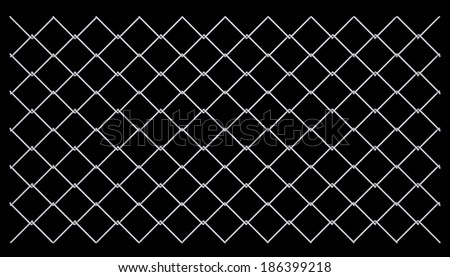 Metal mesh. Isolated render on a black background - stock photo