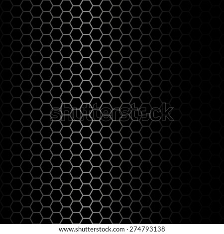 Metal mesh on a black background