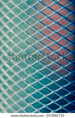 Metal mesh pattern - stock photo