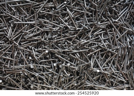 metal nail background texture - stock photo